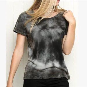 Brandy black tie dye bleach t shirt